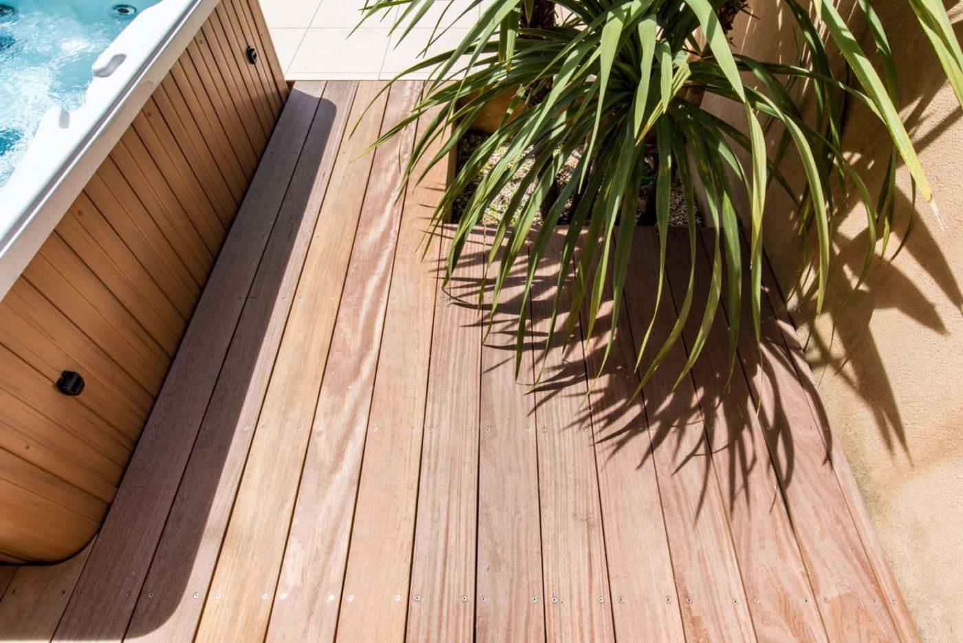 terrasse bois spa